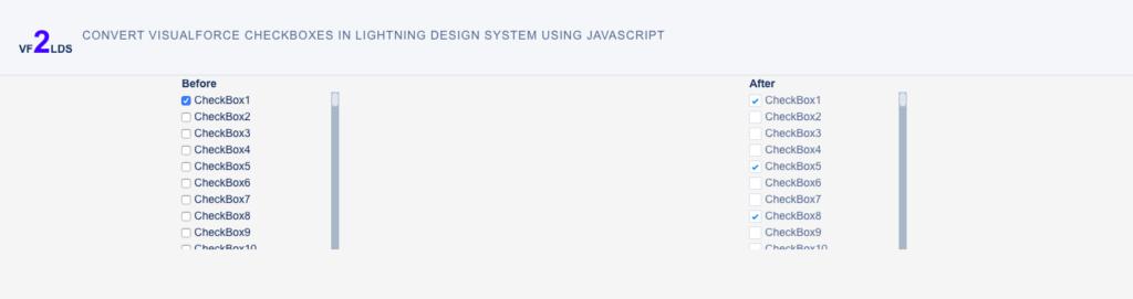 Convert Checkboxes In Lightning Design System Using Js